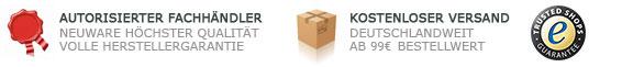 Autorisierter Händler - Kostenloser Versand ab 50,- Euro - Trusted Shops zertifiziert