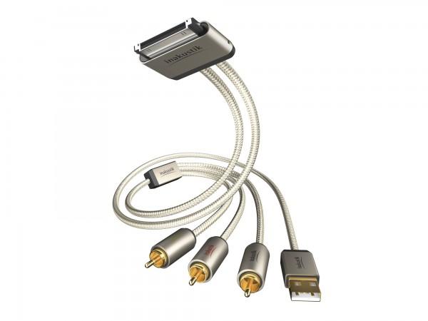 InAkustik Premium iPlug USB-/AV Kabel