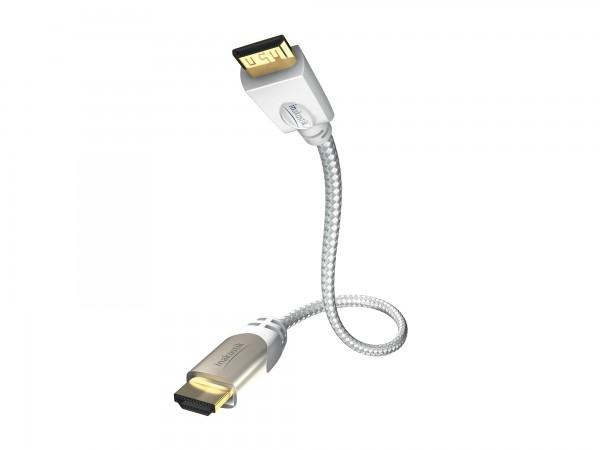 InAkustik Premium Standart HDMI Kabel mit Ethernet - Mini