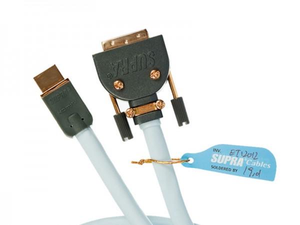 Supra HDMI - DVI Kabel MET - S/B mit abnehmbaren Stecker