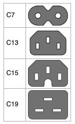 verfügbare Steckervarianten