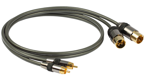 Goldkabel Profi Cinch (RCA) auf XLR Stereo