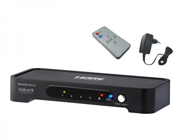 InAkustik Premium HDMI Switch 4 auf 1 High Speed 3D