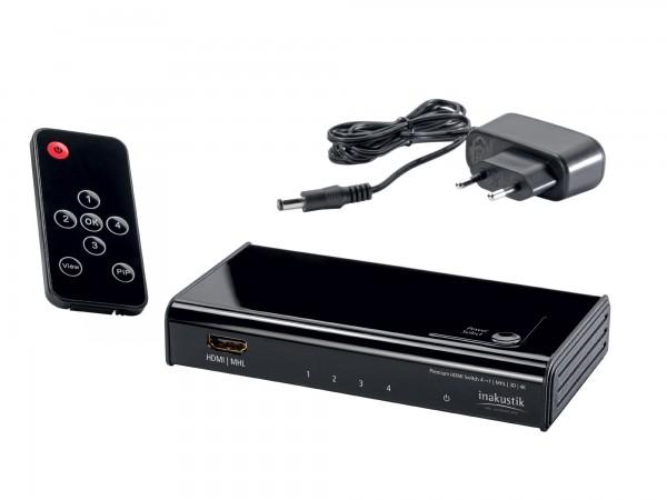 InAkustik Premium 4K HDMI Switch 4 auf 1 High Speed - Kundenrückläufer