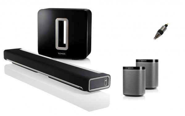 Sonos 5.1 Bundle (mit Play:1) + Goldkabel Profi Opto